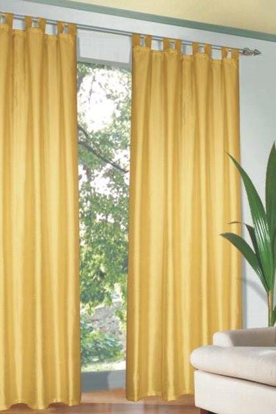 Draperie cu bride deco galben 135×245 cm