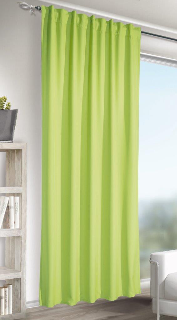 Draperie cu bride Jakob verde 245×140