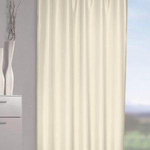 Draperie cu bride ascunse  Vicky alb 245×140