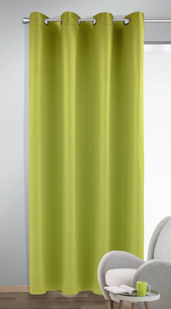 Draperie cu inele Bl.out Mia verde 245×140