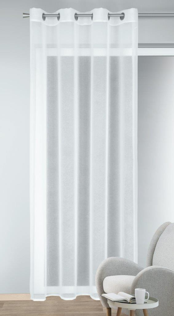 Draperie cu inele Jake alb 245×135