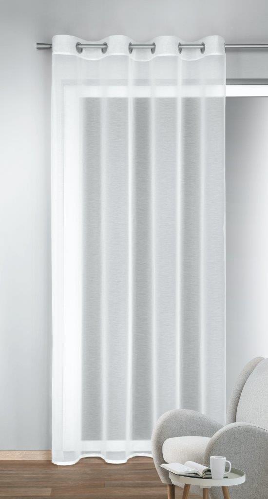 Draperie cu inele Till alb 245 x 140