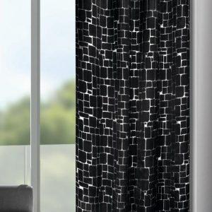 Draperie cu inele D-Out Mauer antracit 245×135