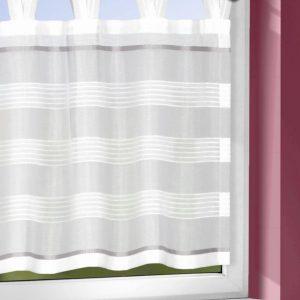 Perdea de bucatarie Bianca2 argintiu 45×140