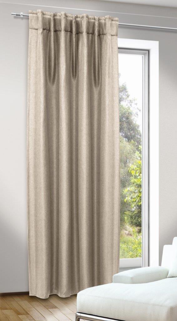 Draperie cu bride ascunse. Dimout Jolie beige 245×135