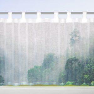Perdea de bucatarie Sophie verde 45×140