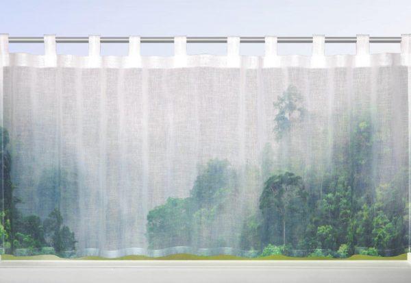 Perdea de bucatarie Simba dd-verde 50×140