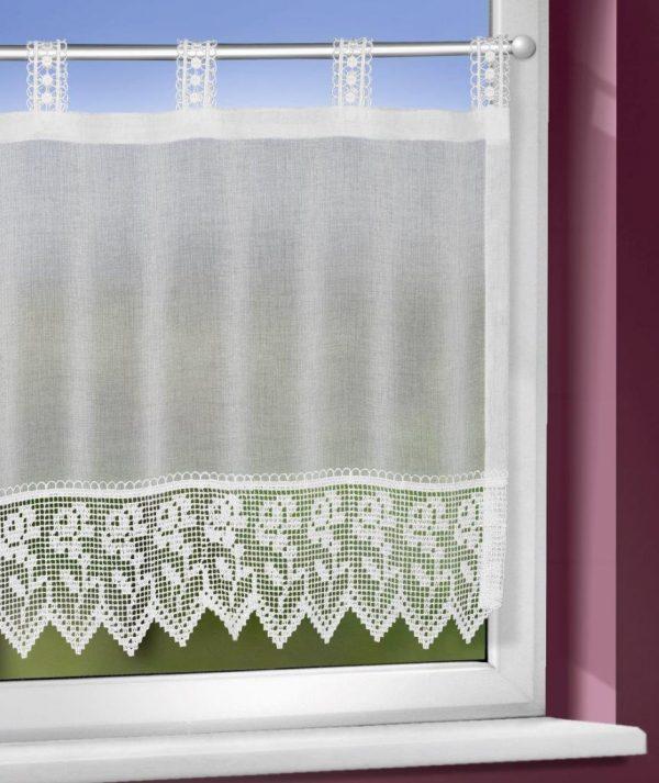 Macrame-panou Kathi alb 45×140