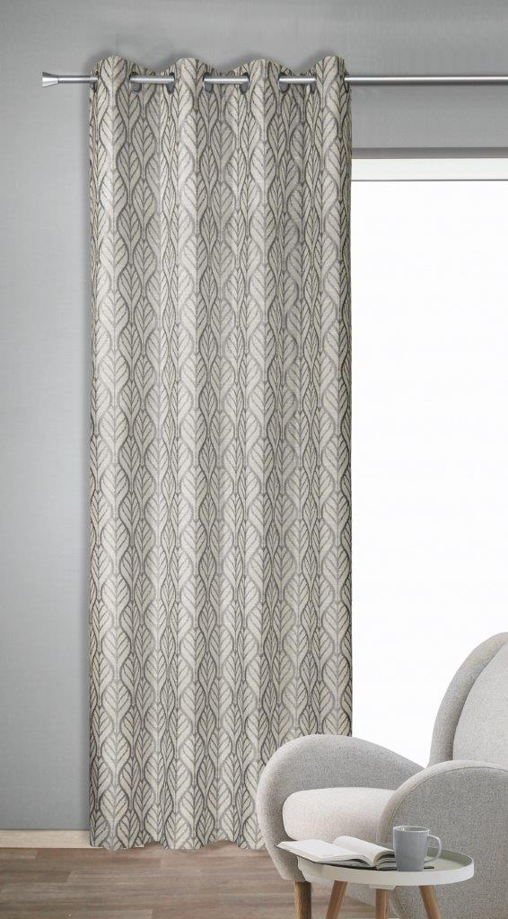 Draperie cu inele Toni argintiu 245×135