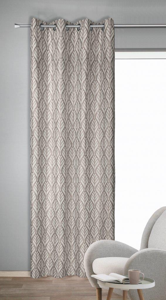 Draperie cu inele Toni dd-roz 245×135