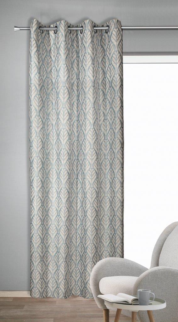 Draperie cu inele Toni albastru 245×135