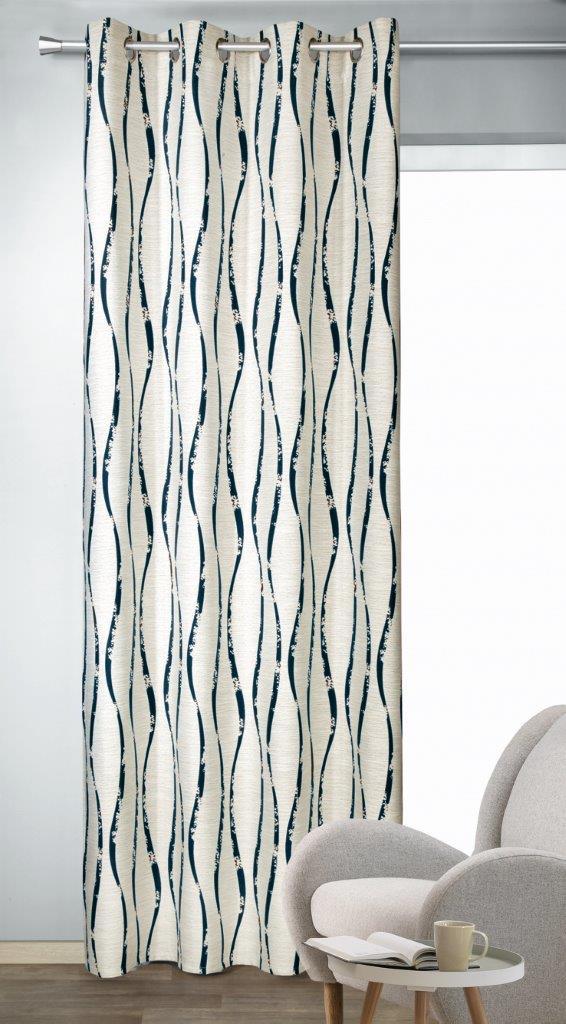 Draperie cu inele Ebby maro 245×135