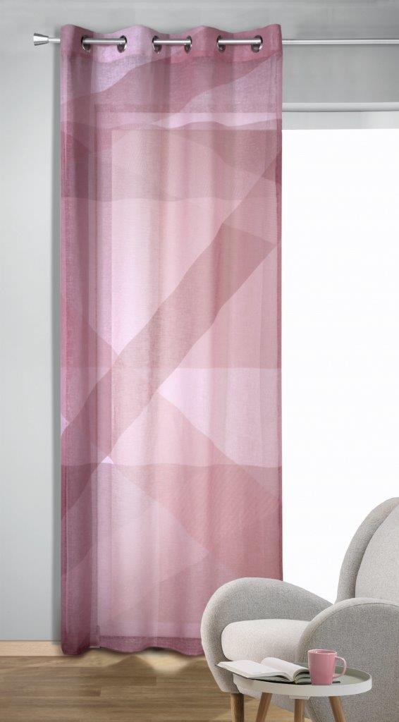 Draperie cu inele Carlo roz 245×135
