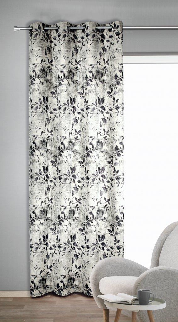 Draperie cu inele Fenja maro 245×135