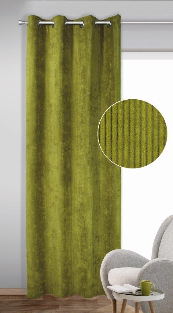 Draperie cu inele Brit verde 245×135