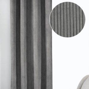 Draperie cu inele Brit argintiu 245×135