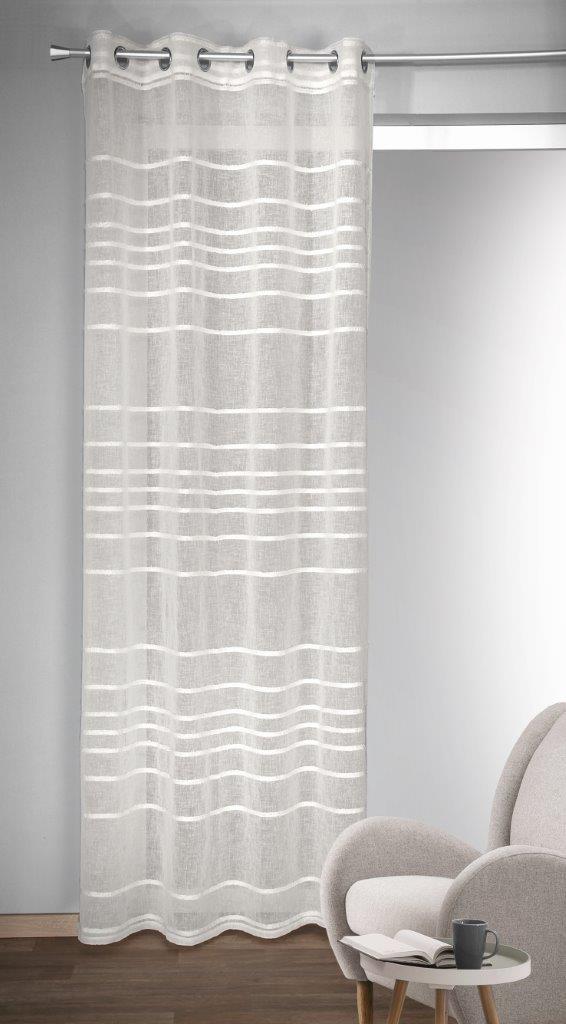Draperie cu inele Gino alb 245×135