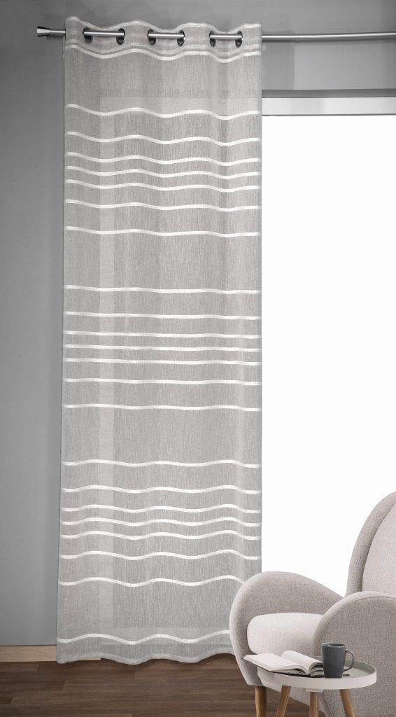 Draperie cu inele Gino argintiu 245×135